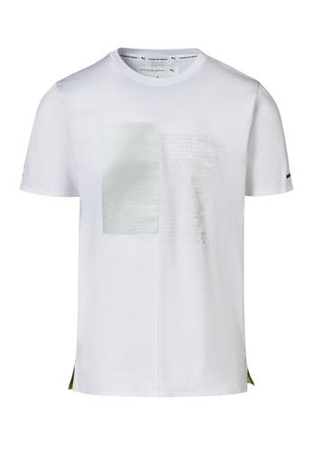 Porsche Design PUMA x Porsche Design White Men's T-Shirt Graphic Tee for Men Sport Casual 8DA6BAAF3250BBGS_1