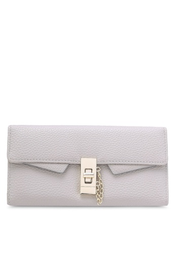 NUVEAU grey Pebbled Textured Long Wallet NU245AC0RKWDMY_1
