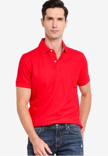 Tommy Hilfiger 紅色 Essential 標準剪裁POLO衫 31485AAC215935GS_1