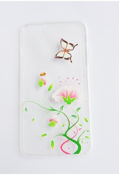 Flowers and Butterfly Soft Transparent Case for iPhone 6 plus, 6s plus