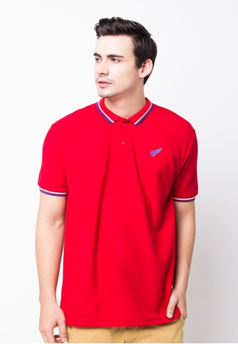 Bloop Polo Shirt Wings Loggo St Red BLP-PE003
