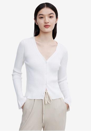 URBAN REVIVO white Casual Outerwear 2F83EAA48F662AGS_1