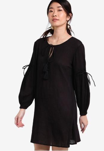 ZALORA black Collection Drawstring Sleeve Dress 36E57AA00EEDFBGS_1