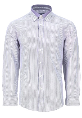 Pacolino white and purple Casual-Smart Long Sleeves Shirt PA995AA46CPLMY_1
