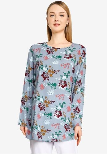 Aqeela Muslimah Wear blue Basic Top 8D3EAAA775B47AGS_1