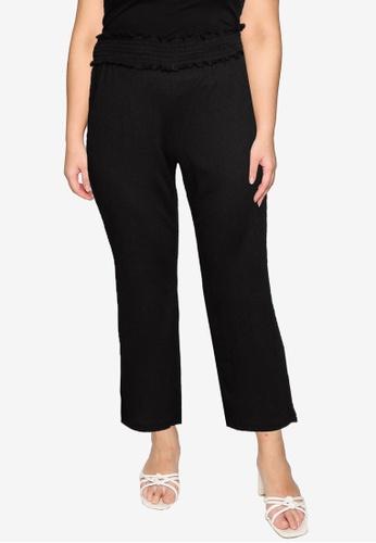 Vero Moda black Plus Sized Ditte High Waisted Pants F1F11AAB43E549GS_1
