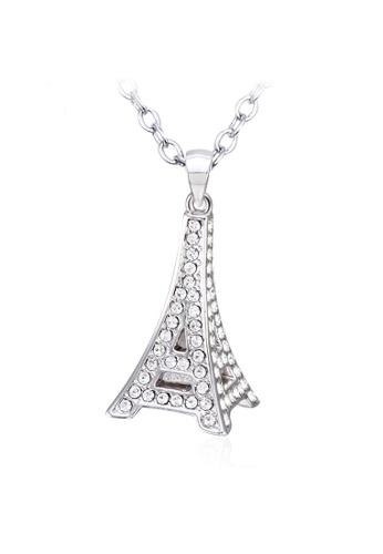 OUXI silver OUXI Eiffel Tower Necklace OU821AC58WMNMY_1