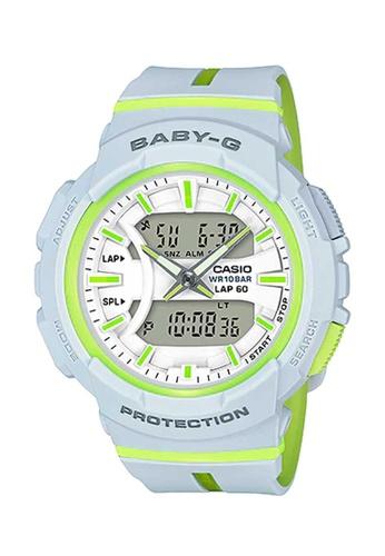 CASIO white Casio Baby-G Athleisure Lime and White Resin Watch 1E8E8AC5E7A085GS_1