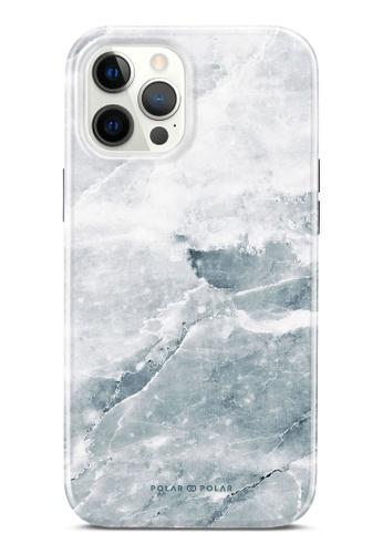 Polar Polar 灰色 冷灰石紋雙層光面手機殼 iPhone 12 Pro Max B9355ACACC036FGS_1