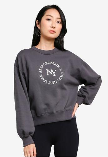 ABERCROMBIE & FITCH black Embroidery Logo Sweatshirt 0FA91AA3102167GS_1