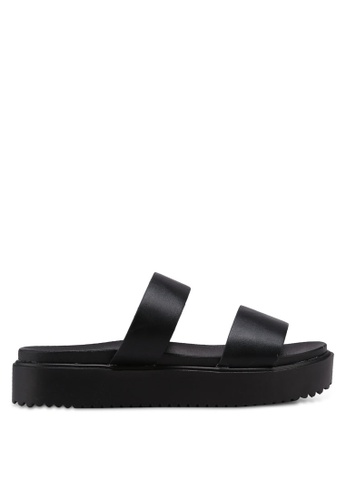Bata black Slide On Platform Sandals 0A94DSH766C032GS_1