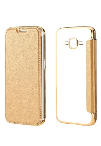 new style a47b6 618c6 Ultra Clear Slim Case with Flip Cover for Samsung Galaxy J1 2016