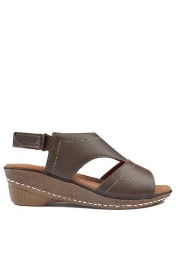 Beajove grey Beajove Iriana Wedges Sandals Taupe E837CSH15D28C5GS_1