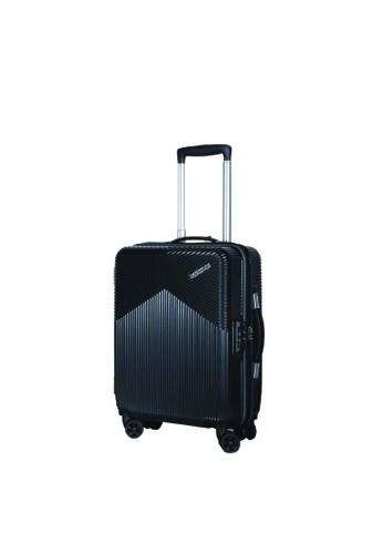 American Tourister black American Tourister Armada Koper Hardcase Cabin/20inch TSA Double Zipper – Graphite EED13AC0300BDFGS_1