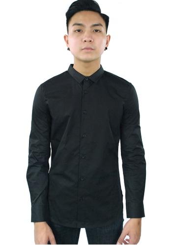 Praise black Long Sleeves Shirt PR067AA91GSASG_1