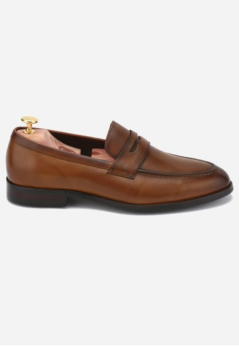 Earnest & Collective brown Dover III Burnished Tan Penny Loafers B11B2SH99B9C26GS_1
