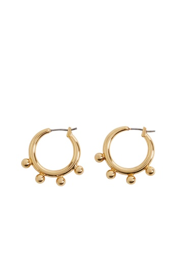 Mango gold Embossed Hoop Earrings 809D5ACA809F0AGS_1