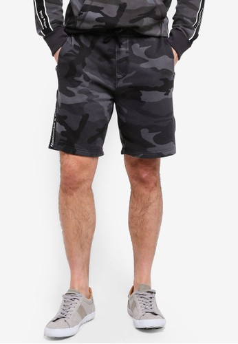 Abercrombie & Fitch black Camo Shorts 76BACAA05187ACGS_1