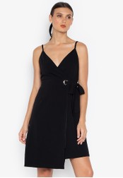 Susto The Label black Mel Eyelet Wrap Dress C0807AACCF3BA0GS_1