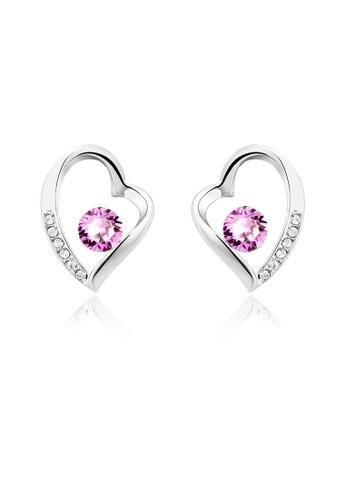 OUXI pink Ouxi Love Earrings OU821AC93VHQMY_1
