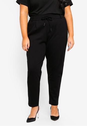 Only CARMAKOMA black Plus Size Curvy Pants DAF4EAA0FD7785GS_1