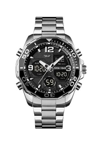 Fashion by Latest Gadget silver SKMEI 1649 Dual Mode Stainless Chrono Watch 0A4CDAC0E937CFGS_1