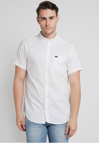 RVCA white Thatll Do Oxford Ss A0C3EAA696E783GS_1
