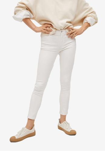Mango white Crop Skinny Isa Jeans 00F88AA8F1C656GS_1