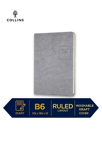 Collins grey Collins Serendipity ─ 2021 Notebook ─ Grey ─ B6 Ruled EBBEAHLE1E5439GS_1