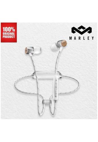 Marley silver Earphone Bluetooth Wireless Original Marley Uplift 2 - Silver F47D0ES254D216GS_1