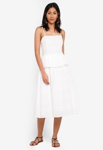 MDSCollections white Crochet Peplum Dress In White DBB7DAA635C0C6GS_1