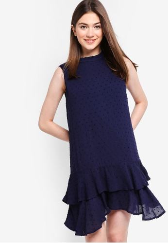 Something Borrowed navy Tiered Drop Waist Dress 6709AAA3988898GS_1