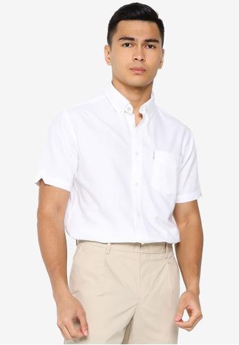 Ben Sherman white Signature Gots Organic Oxford Shirt 2216BAADEEB244GS_1