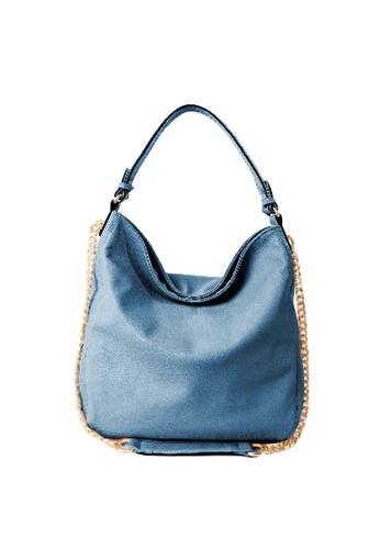 Sesura blue Chained Elegance Shoulder Bag SE113AC86FURPH_1