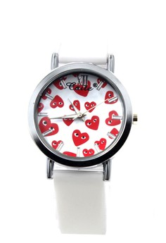 Caite Heart Rain Silicon Stap Watch 3078L