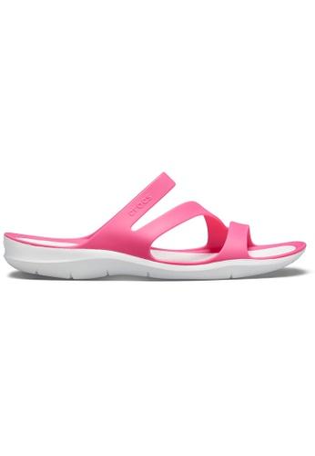 Crocs pink Women's Swiftwater Sandal Pdp/Whi ED450SH96DF684GS_1