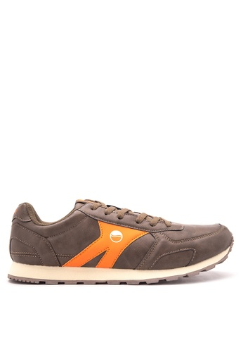Grosby brown Rover Sneakers GR420SH16KNZPH_1