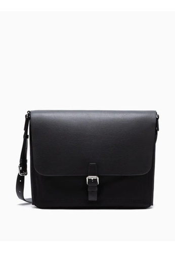 Buy Calvin Klein Leather Messenger Bag Online on ZALORA Singapore 3e88315bed