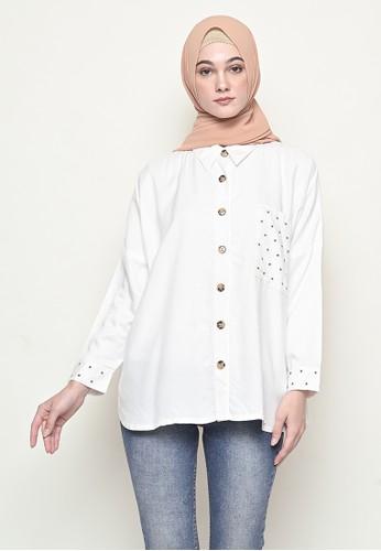 My Daily Hijab white Anya Byeol Blouse White 5D188AA820B103GS_1