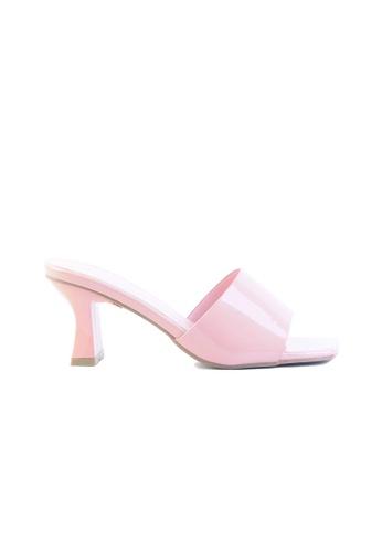Alfio Raldo pink Blush Pink Patent Leather Block Heel 42E65SH6A58F24GS 1