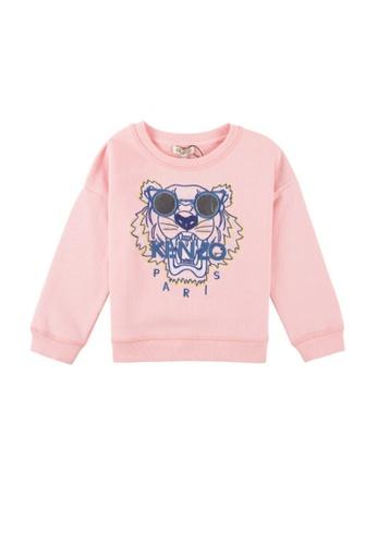 KENZO KIDS pink KENZO TIGER GIRLS SWEATSHIRT 0FFA9KAC5FCC3DGS_1