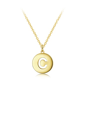 Glamorousky silver Fashion Gold Round Pendant with Necklace FE995AC135C25FGS_1