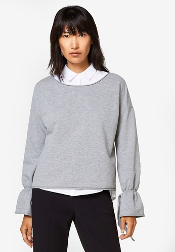 Esprit grey Long Sleeve Sweatshirt ES374AA0SJQFMY_1