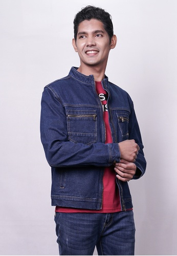 RAGS blue and navy Rags Jeans Jacket 1BC1DAA4A69726GS_1