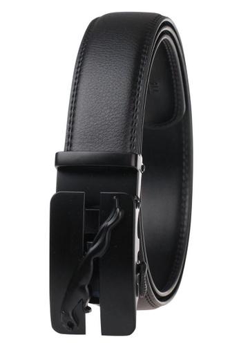 FANYU black Leather Dress Belt With Automatic Buckle belt E8E1DACE8B26B3GS_1