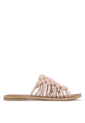Betts pink Tarlee Woven Leather Sandals 91786SHDD63FDDGS_1