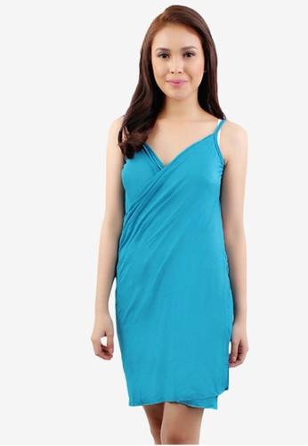 OOTD blue Basic 2 Way Wrap Around Cover Up Beach Dress C91E7US31886C8GS_1