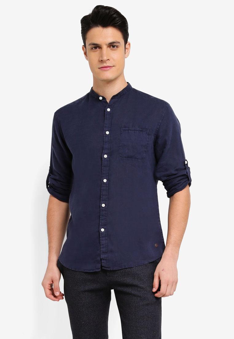 Navy Linen Navy Linen Pure Shirt Linen Shirt ESPRIT Pure Pure ESPRIT Shirt rwwqFXP