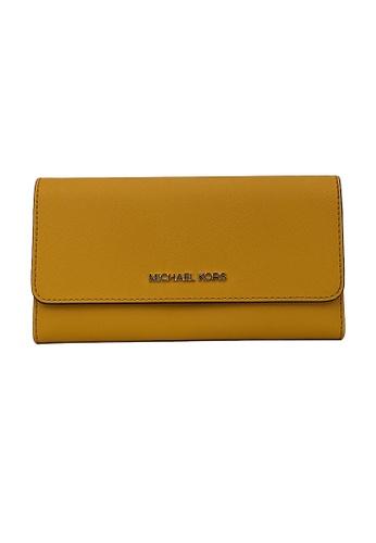 Michael Kors yellow Michael Kors Jet Set Travel Large Trifold Wallet Marigold 35S8GTVF7L 3F115AC3353857GS_1