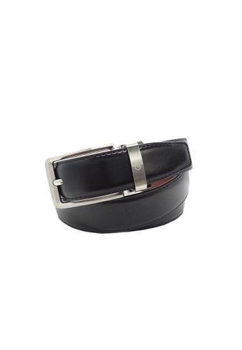 Goldlion black Goldlion Men Pin Belt - Black 65253AC39BE43EGS_1